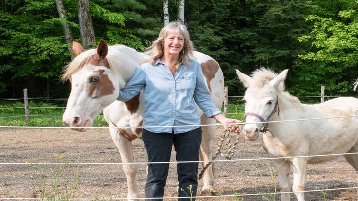 Ellen with two of her horses