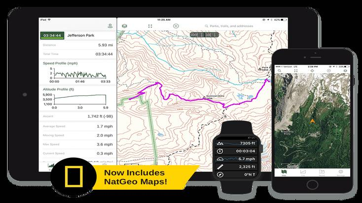 One of the best hiking apps is Gaia GPS