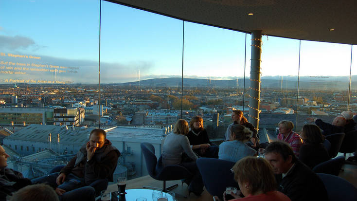 A view from the Gravity Bar in the Guinness Storehouse