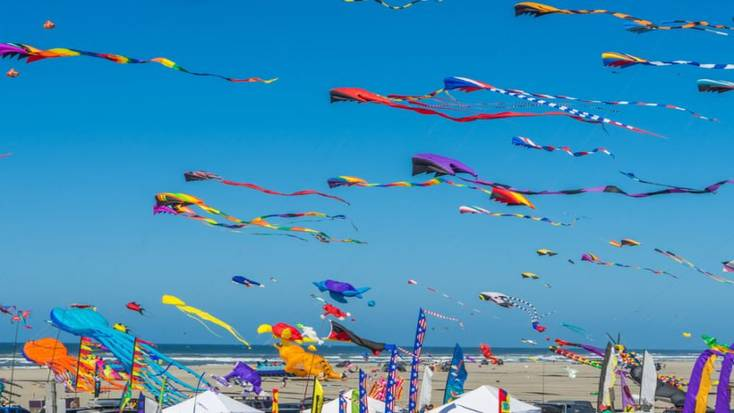Kite flying has become a part of the annual Easter traditions in Bermuda
