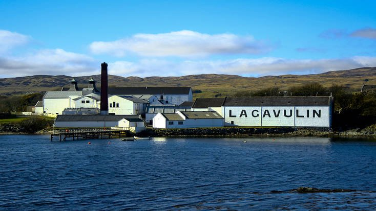 A view the Lagavulin Distillery from the water