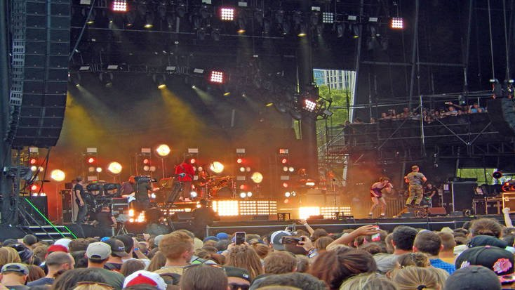 Cage the Elephant performing at Lollapalooza