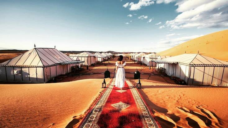 A desert camp in Morocco, one of the best winter sun destinations