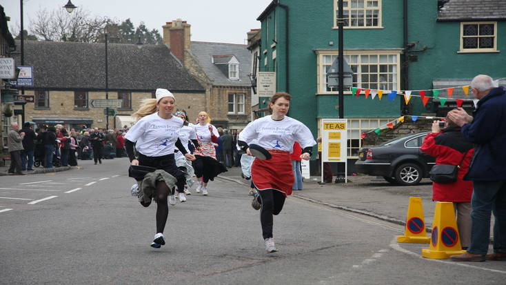 Check out the Olney Pancake Race on Shrove Tuesday 2020