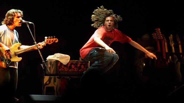 Rage Against the Machine at the Coachella music festival
