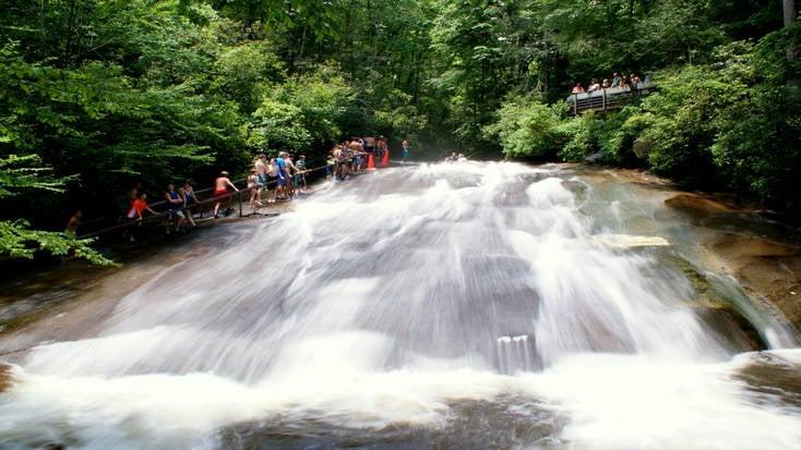Take a plunge at Sliding Rock