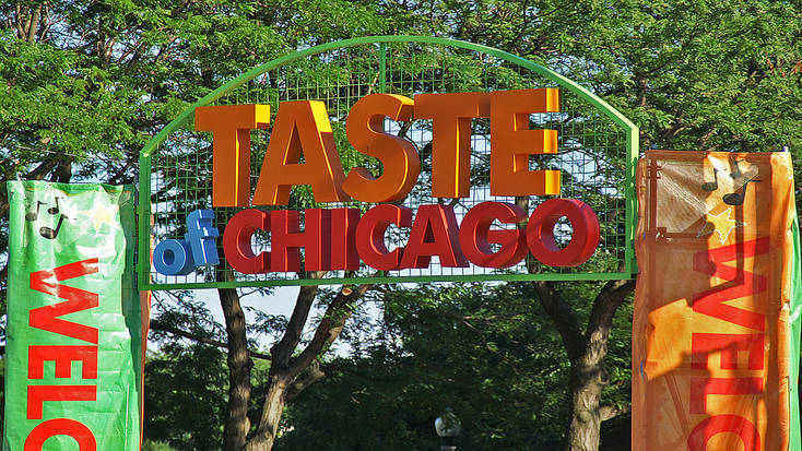 Entrance to the Taste of Chicago food festival