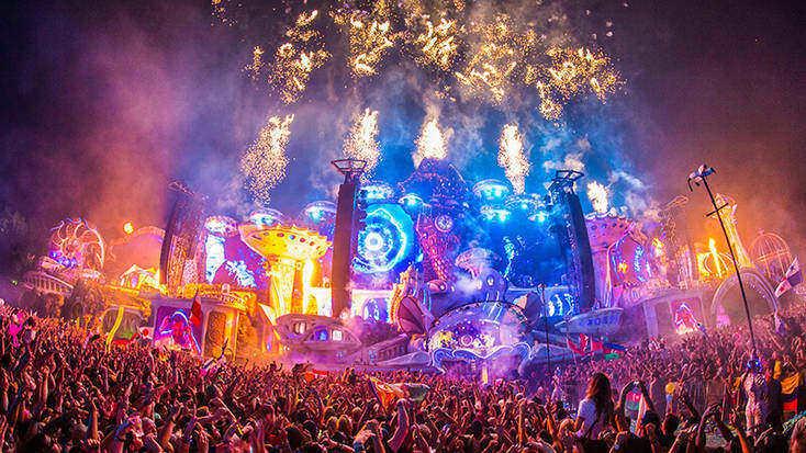 Fireworks at Tomorrowland