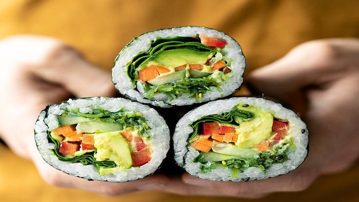 Try vegan sushi roles at the Eat Drink Vegan food festival