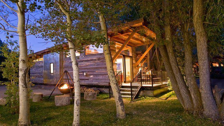 A Wyoming tiny house rental on a list of Valentine's Day gift ideas and Valentine's Day gifts for her.
