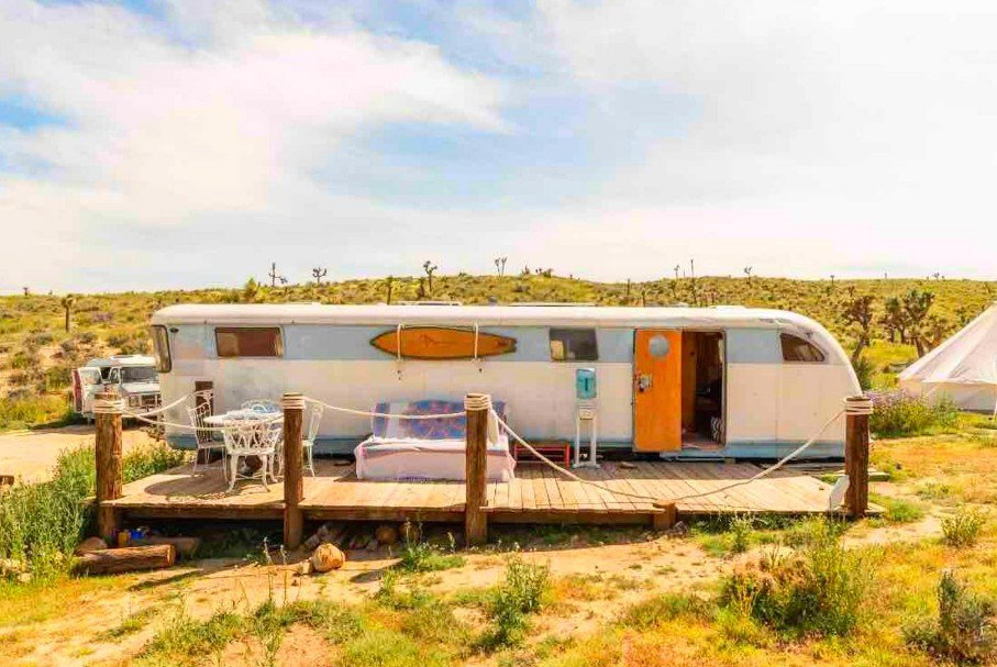 Vintage Joshua Tree Airstream for the Best Glamping in California