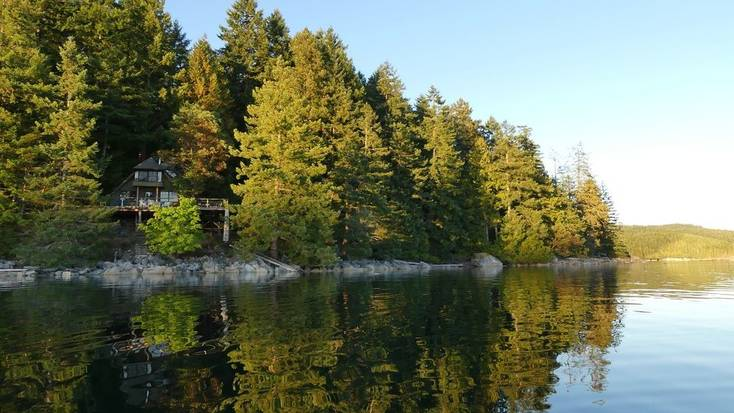 One of the best cabin rentals British Columbia has to offer with views over the water