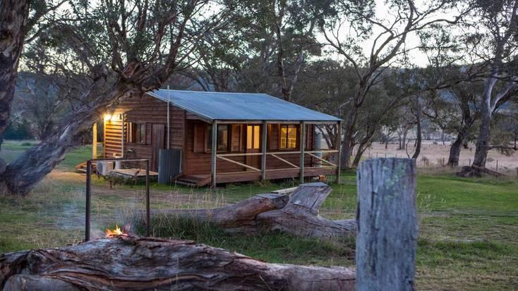 luxury camping cabin near Canberra, Australia