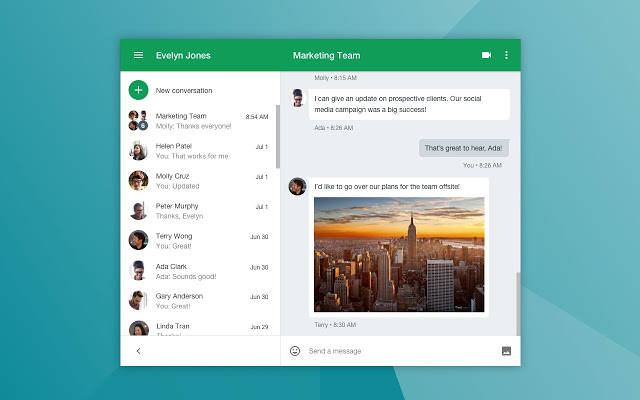 Use Google Hangouts, a free video chat app