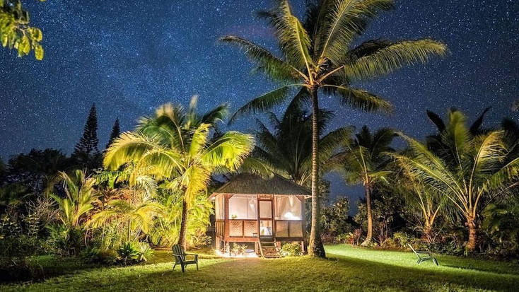 An eco-friendly hut near Hilo, Hawaii