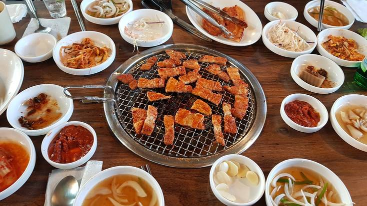 Try a traditional Korean BBQ