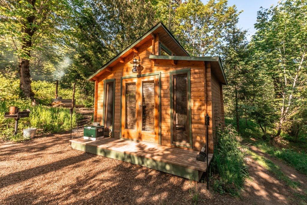 One of our tiny house rentals near Portland, Oregon