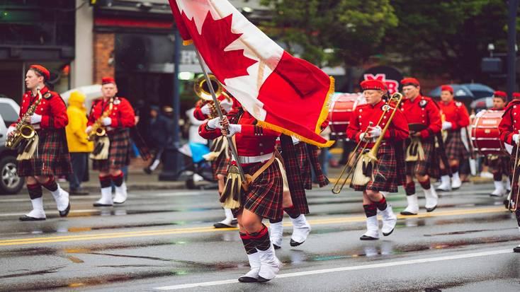 The Victoria Day Parade in Victoria, BC