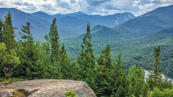 A view over the Adirondack Mountains