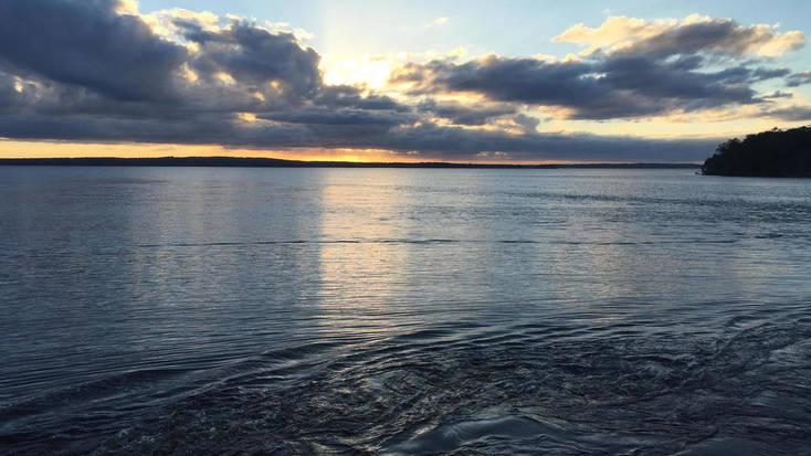 Sunset over the Toledo Bend Reservoir, Louisiana