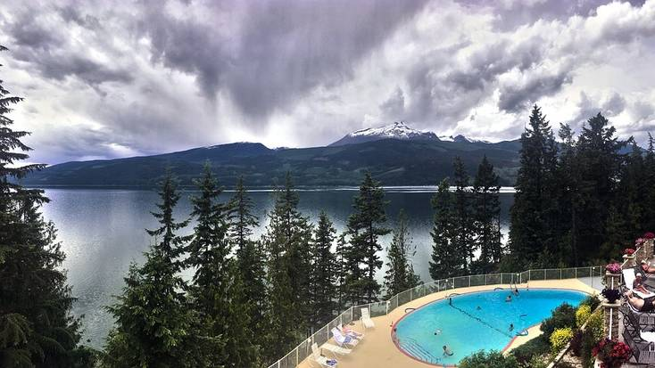 Spend BC Day relaxing at the halcyon hot springs