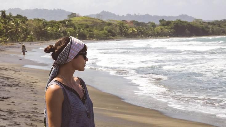 a woman on a beach in the Caribbean.jpg