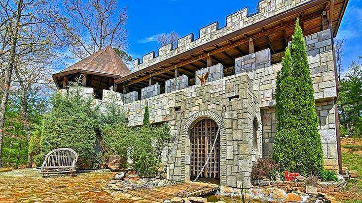 A castle rental in the blue ridge mountains