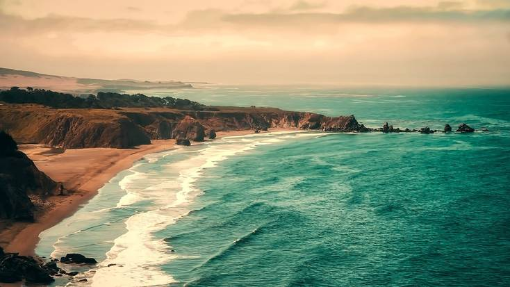 A view over stunning California beaches