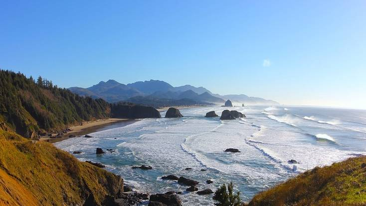 Cannon Beach, Oregon, is one of our favorite dog-friendly beaches