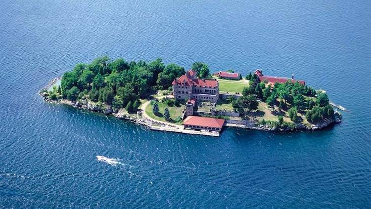 A castle rental on Chippewa Bay, New York