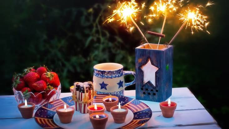 A fourth of July celebration in the countryside