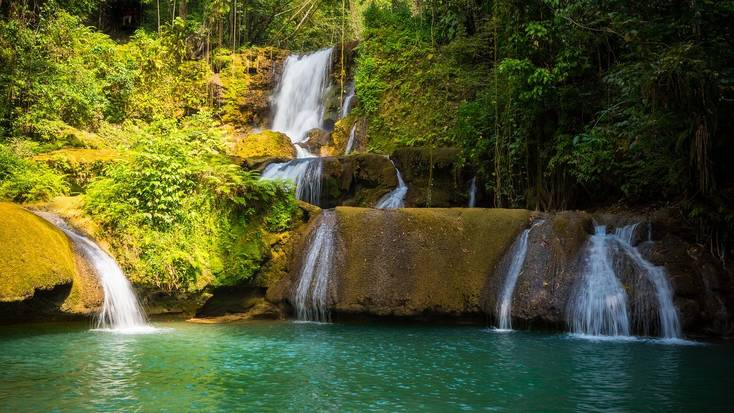 A lagoon in Jamaica for topical vacations