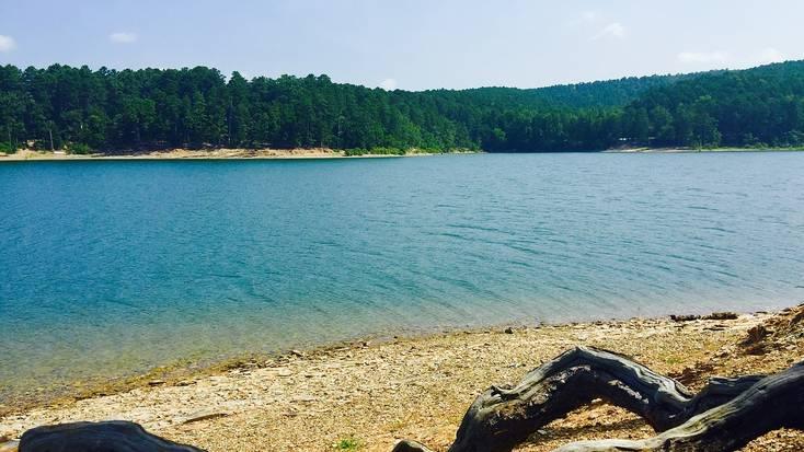 Lake Ouachita in the Ouachita Mountains