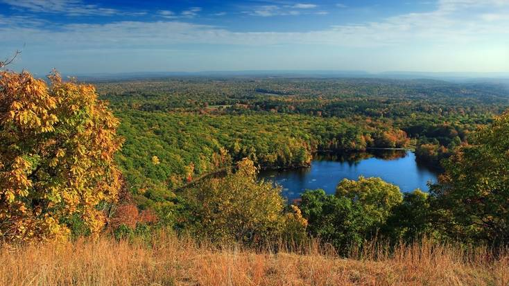 A view over the stunning Poconos