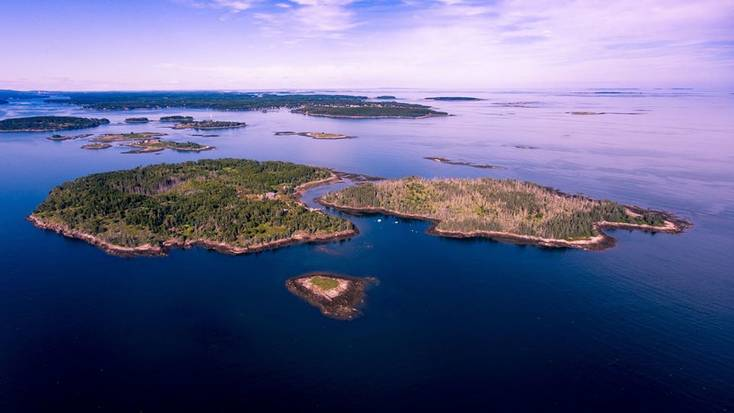 A bird's eye view of McGee Island, Maine