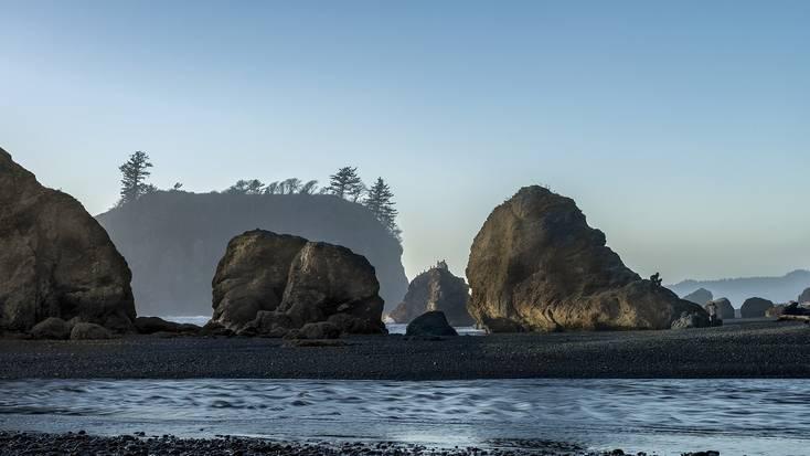 Rock formations on Ruby Beach, Oregon