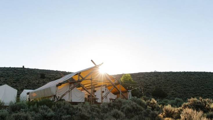Safari tent in the Colorado Rockies