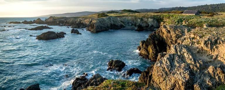 A view of the coastline near Sea Ranch, California