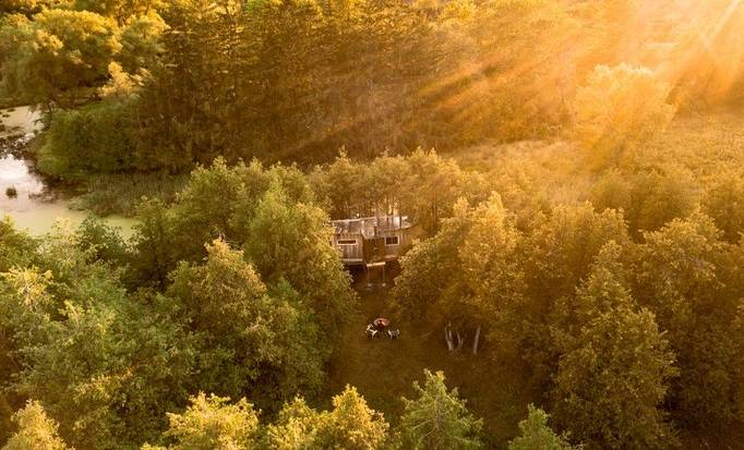 Celebrate Canada Day in a tree house rental.
