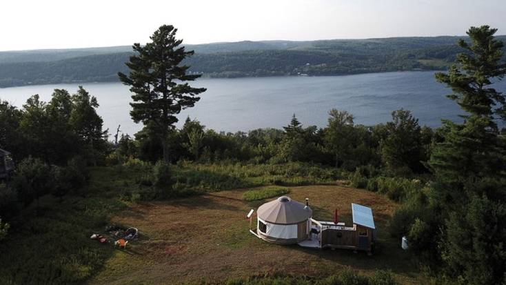 Stay in a secluded yurt rental for Canada Day