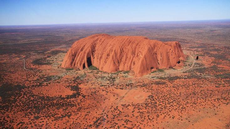 Aerial view of Ayers Rock, Northern Territory