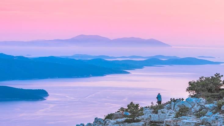 A view over Brac Island, Croatia