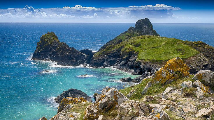A view over Kynance Cove, Cornwall