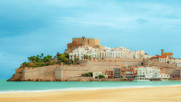 Peñiscola in Valencia is one of our favorite beaches in Europe