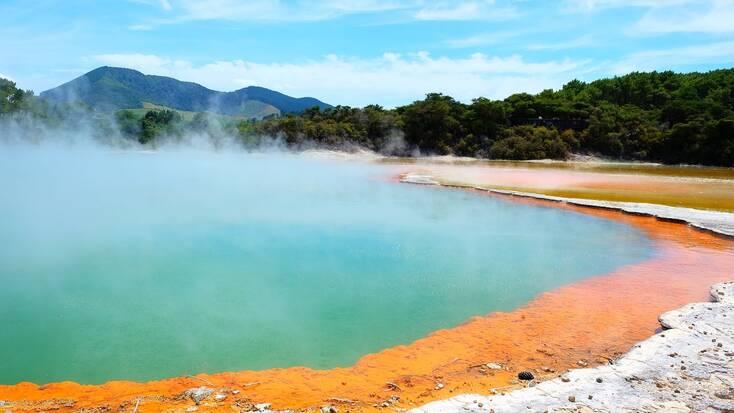 Visit the Wai-O-Tapu thermal springs in Rotorua