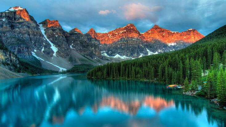 A lake in Banff National Park