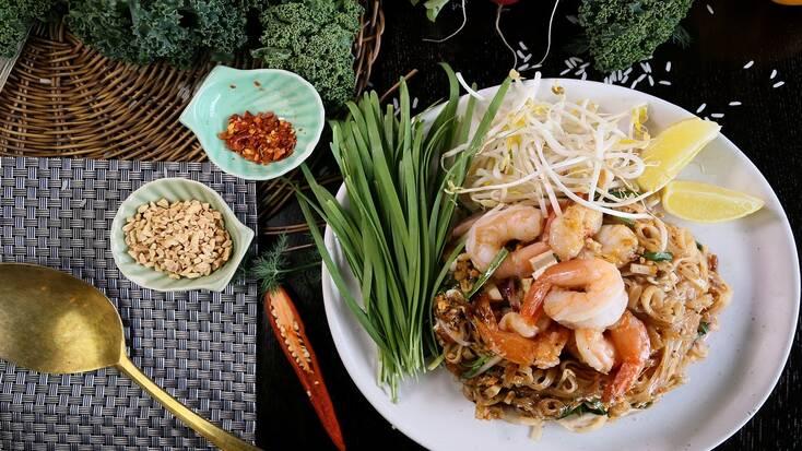 Traditional foods from Thailand include Pad Thai