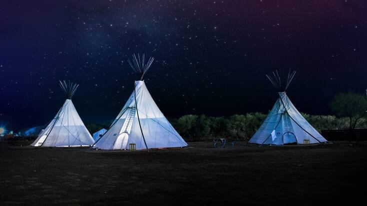 Stay in a tipi when you go camping