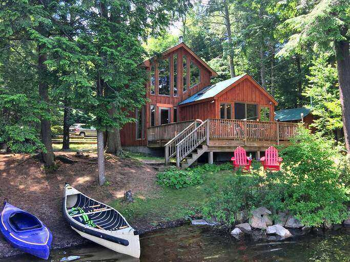 A cabin on Charley Lake, one of the best vacation spots on East Coast