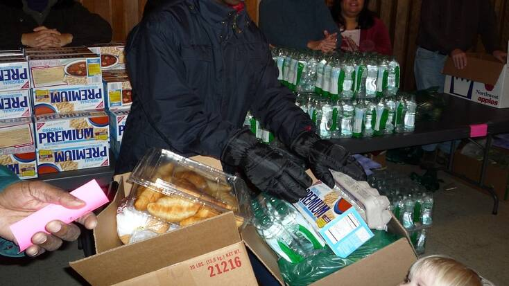 Food donations and other essentials